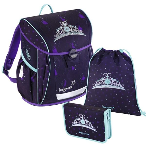 Školní batoh Baggymax Fabby Královská koruna SET