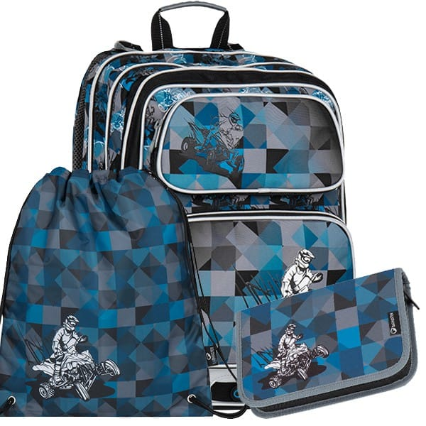 Školní batoh Bagmaster GALAXY 7 F set + doprava zdarma  aa0f34b898