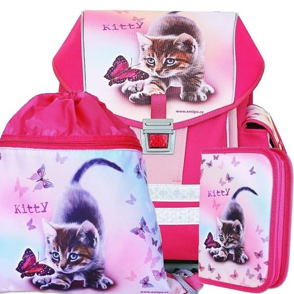 Školní batoh Emipo Ergo One Kitty 3dílný set