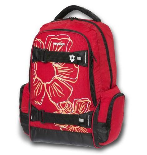 Školní batoh Walker Flower červená