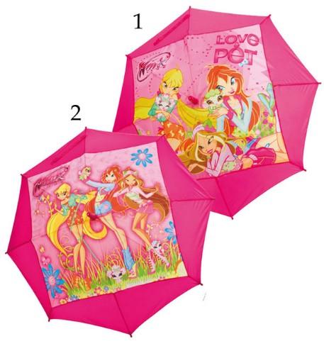 Dětský deštník Winx,vystřelovací