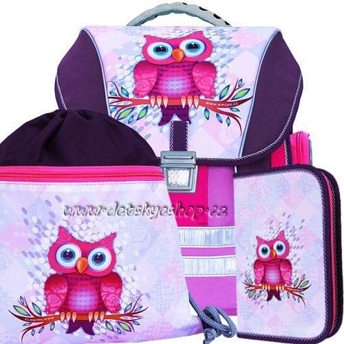 Školní batoh Emipo Sova 3 dílný set