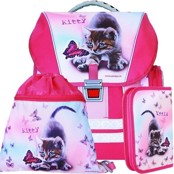 Školní batoh Emipo Kitty 3dílný set a desky zdarma 5392daa90f