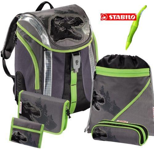 Školní batoh Hama Flexline Dino - set