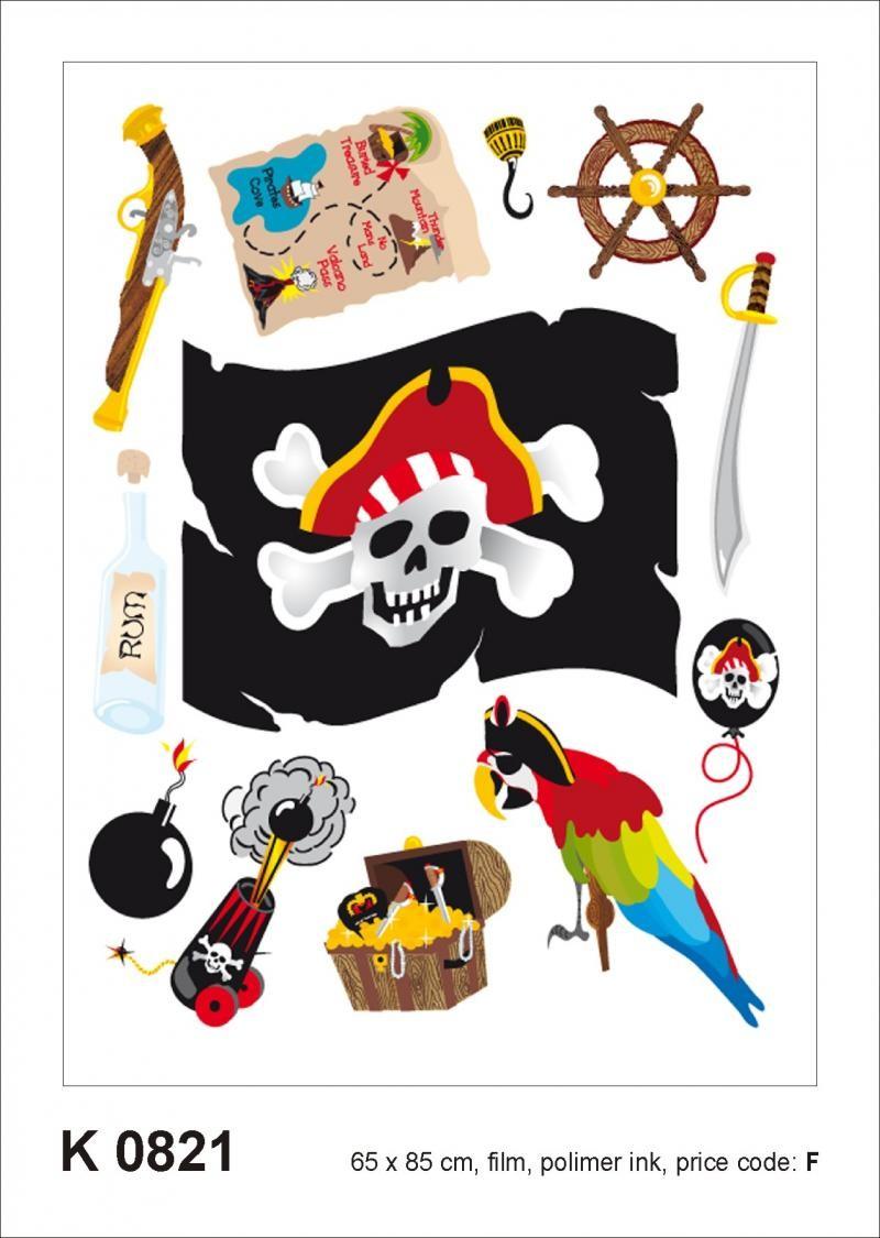 Dekorace na zeď Pirát