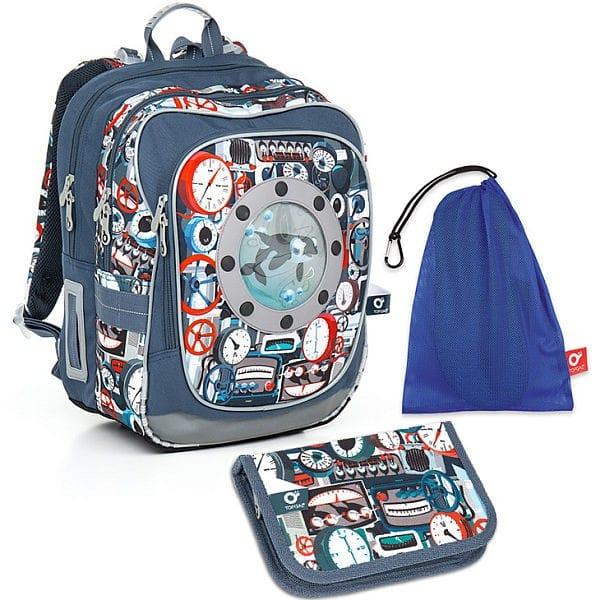 Topgal Sada pro školáka CHI 791 Q SET MEDIUM batoh pouzdro sáček na cvičky