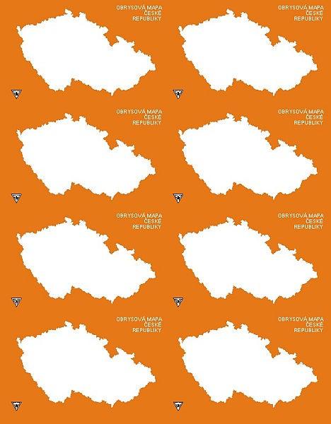 Obrysova Mapa Cr Samolepka Detskyeshop Cz