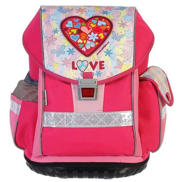 15747433c27 Školní aktovka Emipo Ergo Two Love a desky A5 zdarma