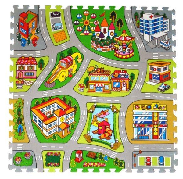 TREFL Pěnové puzzle Město