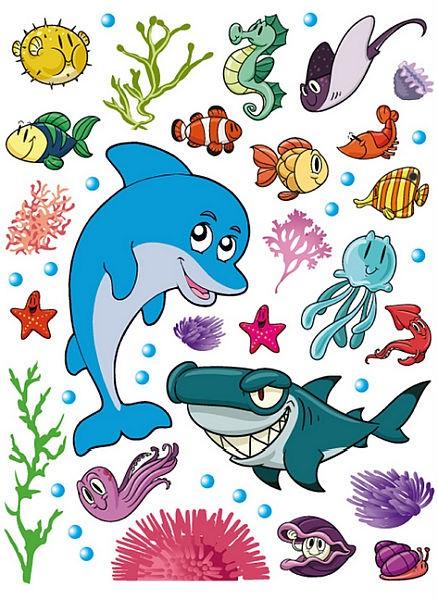 Maxi samolepicí dekorace Mořský svět