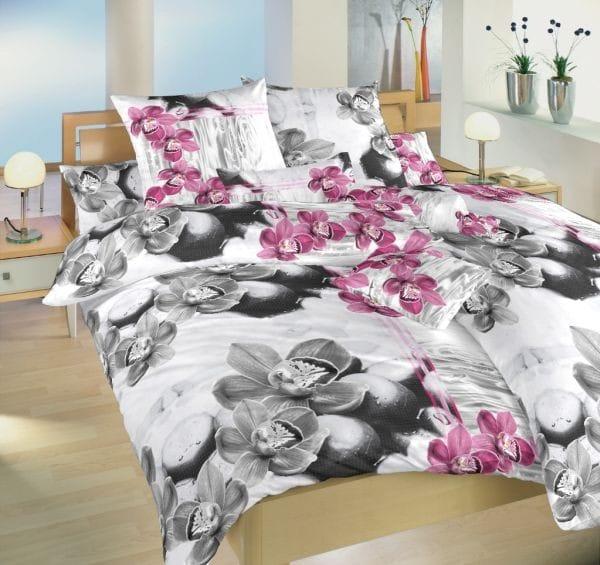 Dadka Povlečení bavlna Orchidej 3D 140x200 70x90