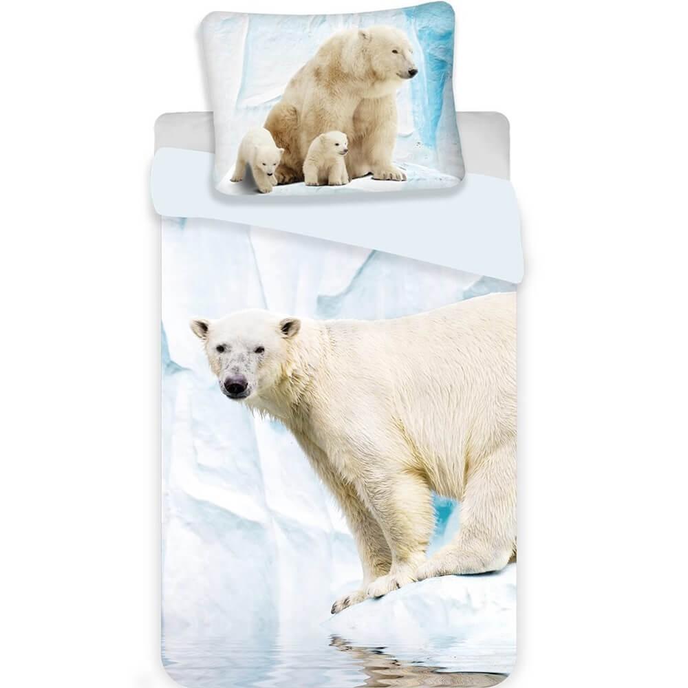 Jerry Fabrics Povlečení fototisk Polar bear 140x200 70x90