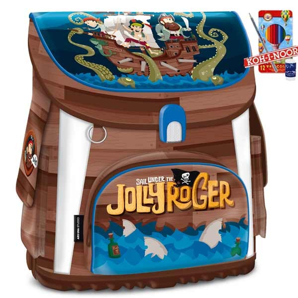 Ars Una aktovka magnetic Pirát Jolly Roger