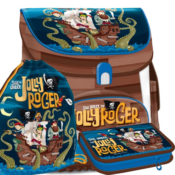 Ars Una aktovka magnetic Pirát Jolly Roger - 3dílný set