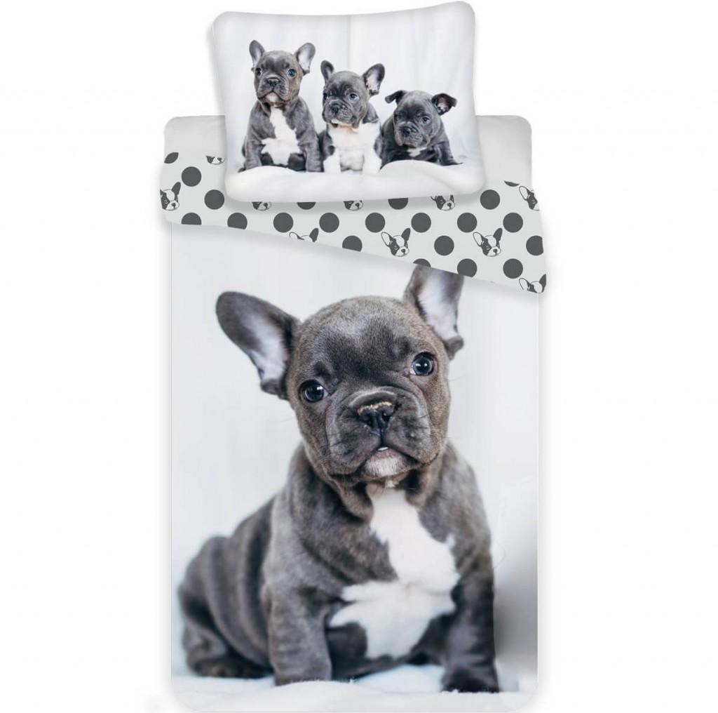 Jerry Fabrics Povlečení fototisk Bulldog 140x200 70x90