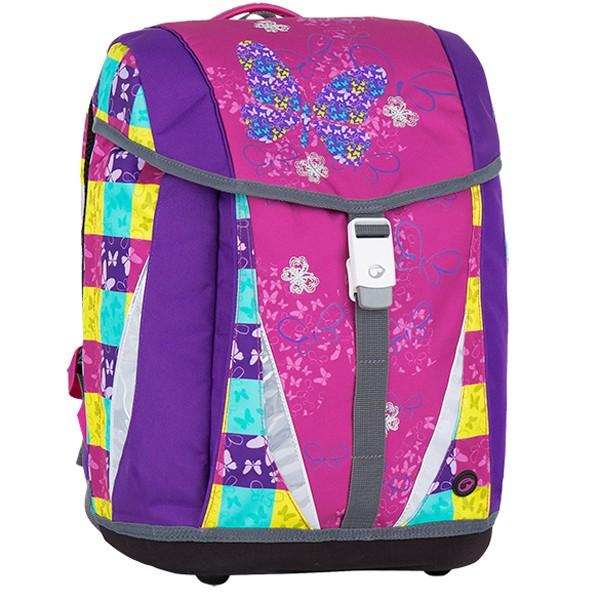 Bagmaster dívčí školní batoh s motýlky POLO 7 A PINK VIOLET 2a5b8c83a2