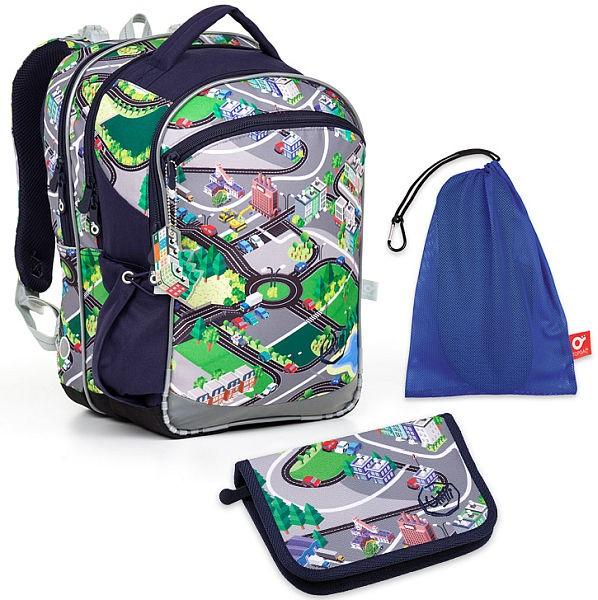 c23852fa808 Školní batoh Topgal COCO17001 B SET MEDIUM