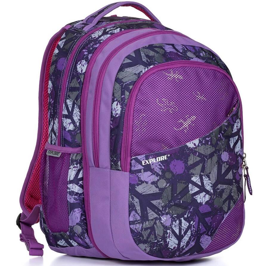 cfe6b776f0 Školní batoh EXPLORE Daniel Peace purple 2 v 1 a doprava zdarma