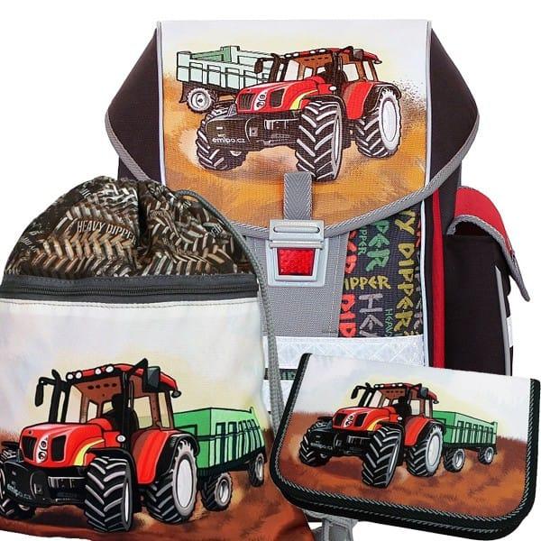 Školní batoh Emipo Ergo One Traktor 3dílný set