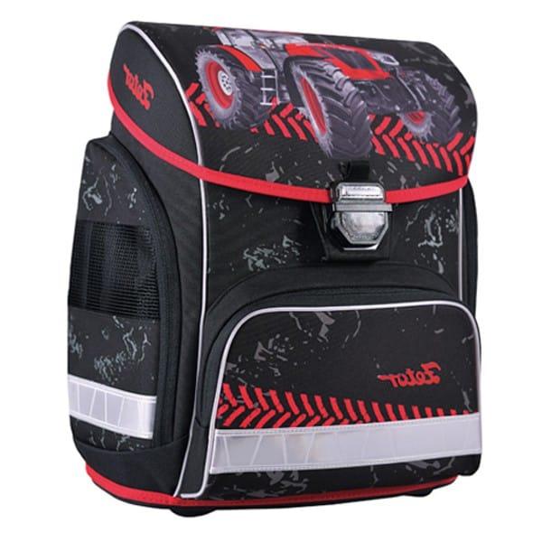 Stil školní anatomický batoh Zetor černá/červená/traktor