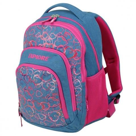 b0a353f0d8 Školní batoh EXPLORE srdíčka 2 v 1