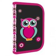 Penál OXY Pink Owl se 2 klopami c1f62d5837