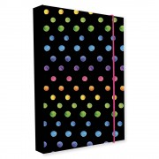 Box na sešity A4 Jumbo Dots colors