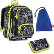 Školní aktovkové sety pro prvňáčky v barvě zelená  0862ca5370