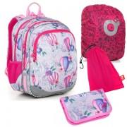 Dětské školní batohy pro první stupeň v barvě růžová  26a42100f8