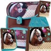 Školní anatomická aktovka Stil Sweet Horse - 3dílný set 2d283de1de